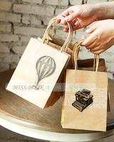 Free shipping! 15pcs/lot 18.6x14.2cm Retro ultra thick craft paper bag gift bag candy bag