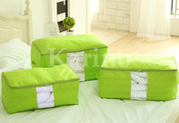 Free Shipping Wholesale NEW Foldable Storage Bag, Clothing Bag, Home Storage Quilt bag,Transparent Window, Multi colors, L#