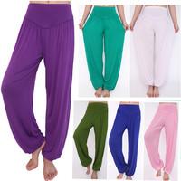 2015 New Women casual harem pants high waist sport yoga pants dance club wide leg loose long bloomers trousers plus size,SB511