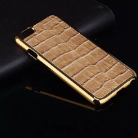 30pcs/lot High Quality For iPhone 6 4.7 inch Crocodile Chromed Hard Skin Case Cover, Free Shipping