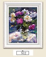 DIY 3D Resin Square Diamond Cross Stitch Diamond Painting Flower Needlework Kit Full Embroidery Flower Serie Factory Direct Sale