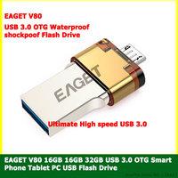 EAGET 16GB 32GB OTG Smart Phone Tablet PC USB 3.0 USB Flash Drives 16G/32G Pen Drive Micro USB Stick 3.0 Double Memory