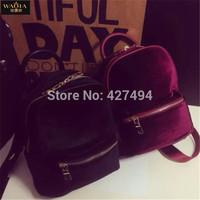 Fashion Women Travel Bags 2015 Hot European And American Style Vintage Velour Zipper Natural Color Popular Handbag Shoulder Bags