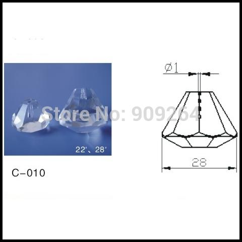 Free shipping optic fiber crystal for all kinds of fiber lighting,super transparent fiber crystal ending,100pcs /Lot(China (Mainland))