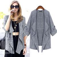 2015 spring new Elegant  Slim Jacket shirt sleeve shawl cardigan jacket female outwear 3009