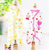 New fashion pet dog cat cartoon Pajamas doggy warm soft jumpsuits puppy hoodies dogs cats tracksuits pets clothes 1 pcs/lot