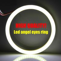 2015 new 60mm 1set Waterproof led cob angel eyes  Daytime Running Light DRL car Auto Headlight lighting car Chip super bright