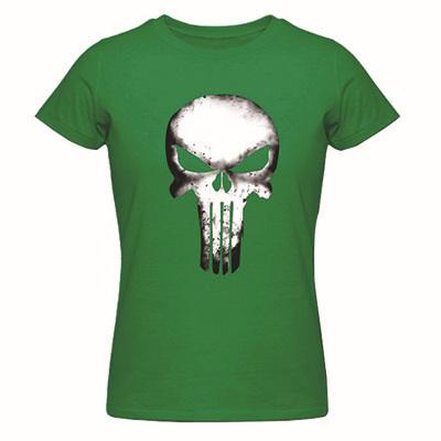 New Ladies Summer Shirts The Punisher Skull Women's Print Music T Shirt 100% Cotton Design Top Tees Print Shirts(China (Mainland))