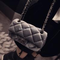 2015 RAXH Velour Chains Quilting sweet wind handbag women messenger bag small bag