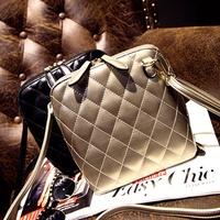 2015 women's handbag fashion shoulder bag messenger bag plaid embroidery shell bags