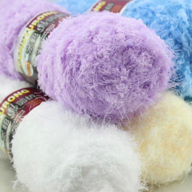 100 g * 1 peça fio para baixo coral fleece mink veludo linha cachecol fio grosso tecidos à mão(China (Mainland))