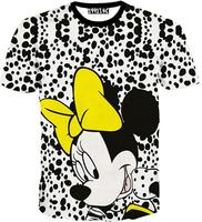 [Alice]free ship 2015 men's new cartoon t-shirt lovely mouse girls 3d t shirt women/men short sleeve casual tshirt M-XXL T1529