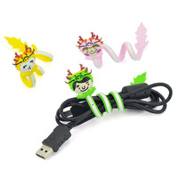 1pc Dragon Style Earphone Headphone Data Wire Cord Cable Winder Tie Holder HY36494