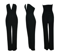 Jumpsuits Rompers decolletage Strapless sexy trousers 4color women bell-bottomed pants free shipping
