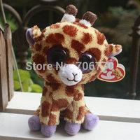 "IN HAND!  NEW Ty beanies Boo Cute Big eyes Animal ~Glitter eyes Safari the Giraffe~~Plush doll 6"" 15cm Stuffed TOY BEST GIFT"