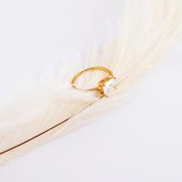2015 New Elegant Cube Rhinestone Wedding Ring for Women 18 Gold / White / Rose Gold Filled Stainless Steel Wedding Rings