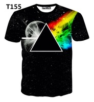 [Alice]free ship 2015 Hot design new made for 3d t shirt men Triangle Celestial body 3D t-shirt short sleeve round neck t shirt