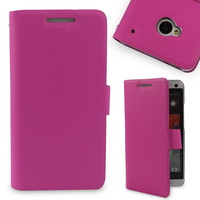 2015 New Luxury Genuine Leather Case for HTC One M7 Protective Wallet Flip Cover 4 Colors Available