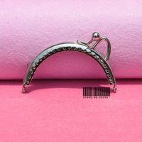 20pcs/lot  DIY 8.5cm Silver Metal Purse Frame kiss clasp Handle for Bag Craft bag making ,freeshippingXF15-20