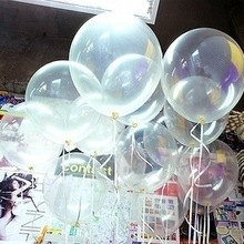 New ! wholesale big balloons 36 inches Large Giant Clear Transparent latex Balloon Wedding Party Balls 10pcs/lot Free shipping(China (Mainland))