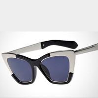 2015 New Sunglasses Women&Men Retro Metal Cat Eye Sun glasses UV400 Protection Shades EyeWear Goggles Oculos De Sol
