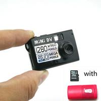 5MP HD Smallest Mini DV Digital Camera Video Recorder Camcorder Webcam DVR SC501 with 16GB TF card