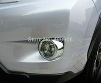 New Chrome Front Fog Light Lamp Cover Trim For Subaru XV 2012 2013 2014