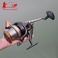 Top Quality 13BB Lj9000 4.11:1 Fishing Reel Big Capacity Left Right  Metal Wire Cup Fishing Line Wheel Spinning Fishing Reel