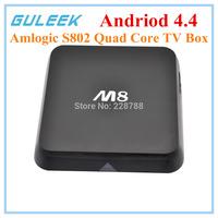 M8 Amlogic S802 Smart TV Box 2.0GHz Quad-core Android 4.4 Google TV Player/2GB+8GB,Wifi,Bluetooth,HDMI,EU-Plug