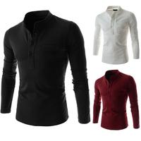 2014 Hot Sale Men T shirt Fashion T-shirts Casual summer Long Sleeve 6 Colors 4 Sizes Free ShippingPPY10