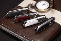 4GB 8GB U-disk pendrive memory stick  Nice Gift 4 Style Colors Key Chain  leather Metal 2.0 USB Flash Drive