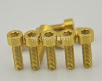 Titanium Ti Bolt multicolour Bolts Screws M6 x 20mm Gold color 10pcs/lot
