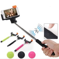 Extendable Selfie Handheld Stick Monopod With Bluetooth Shutter Remote Control Bluetooth Stick  Free Shipping