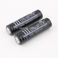 20pcs/lot 3.7V 6000mAh 18650 Li-ion Rechargeable Battery for Flashlight