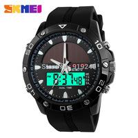 Free shipping 2015 fashion casual Men's watch Waterproof Luminous Outdoor Solar Motion Electronic Wristwatches 3 colors --poiu