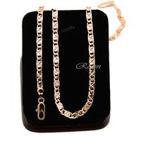 1pcs Men Womens 4mm 20inch Rose Gold Filled Necklaces 18K Chains Accessories E348 Wholesale Retails