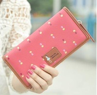 Fashion New 2015 brand long women wallets cute leather purse dot designer bags woman clutch purses cartoon wallets coin purse