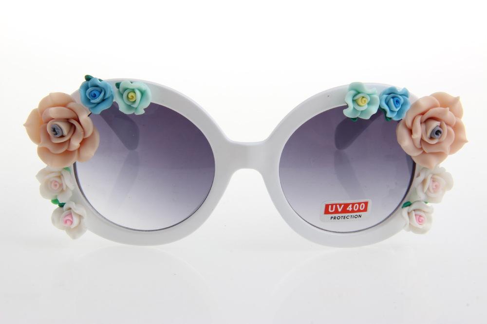 Drop shipping quality handmade goods summer beach rose flower flower clay flower sunglasses(China (Mainland))