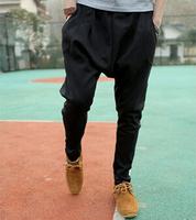 Men harlan sweatpants Little feet hip hop style show thin pants