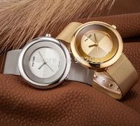 Luxury Brand Ladies Quartz Watch Women Dress Watches Women Men Full Stainless Steel Watch Men Casual Clock Hours Mens Womens