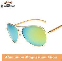 Men Driving Aviator Polarized Sunglasses Mirror Glasses 2015 New Oculos de sol Masculinos Eyewear Gold w/ Gold Mirror sg268