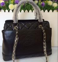 new bag design handbag sheepskin leather handbags embossed flower bags famous brands chain woman bags Genuine leather casual bag