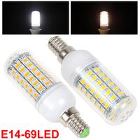 Super Bright E14 20W 69 x 5730 SMD LED Warm White / White Light Corn Bulb