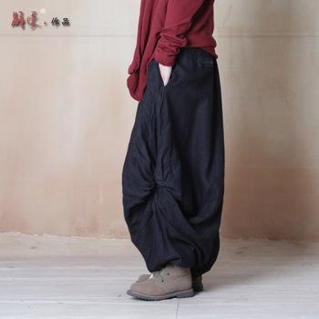 Женские брюки 2015 шаровары женские крутящий широкие брюки ноги шаровары оригинальные ...