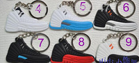 SHIPPING by EMS 400pcs/lot 2015 World Cup promotional keychain 135 different styles air jordan shoe keyring