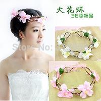 Retail hot sale flower crown headbands girls hairband women hair accessories 4 colors head band hair band