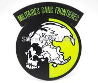 Black Metal Gear Solid Militaires Sans Frontieres belt buckle