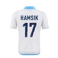 2015 Napoli Jersey Away White HIGUAIN CALLEJON JERSEY MICHU HAMSIK MERTENS 88 INLER 14 15 Napoli 3rd Away Soccer Jersey