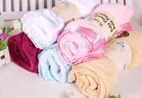 Spring&Autumn Baby's Boys Girls Cartoon Blankets Soft Polar fleece Infantil Embroidered Bath towel 80*80cm