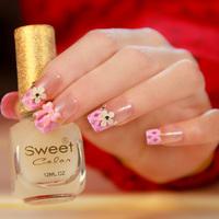 Daisy long style false nails art decoration,woman false nails manicure art ornament display,4.20818.Free shipping